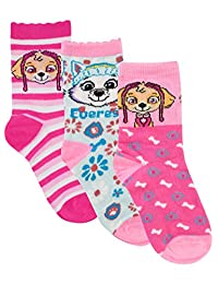 Paw Patrol Girls Skye and Everest Socks Pack of 3