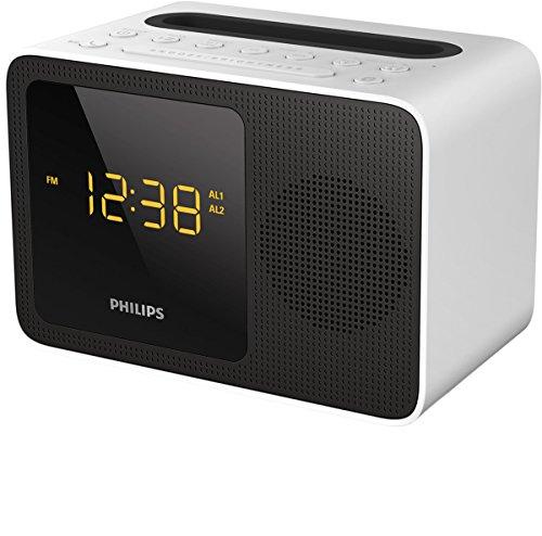 Philips AJT5300W/12 Radiowecker (Bluetooth, UKW, USB Ladestation) weiß/schwarz
