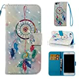 iPhone 7 Case,iPhone 8 Case,[Shock Absorbent] PU Leather Kickstand Wallet Cover Durable Flip Carrying Case with Magnetic Closure Birthday Gift for Girlfriend Boyfriend for Apple iPhone 7-Dream Catcher