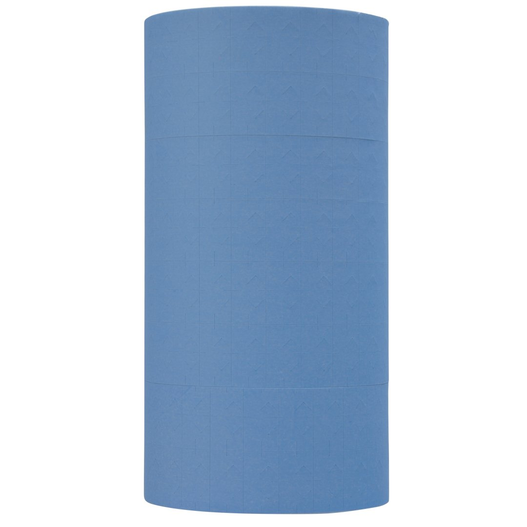 Pastel Blue Pricing Labels to fit Monarch 1131 Pricers. 8 Rolls with 1 Free Ink Roller.