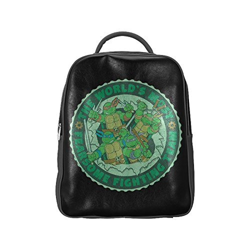 [Navarro Teenage Mutant Ninja Turtles TMNT Unisex School High-grade PU Leather Backpack Bag Shoulder] (Donkey Kong Costume For Women)
