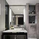 24'' X 32'' Backlit Led Light Bathroom Slivered Vanity Mirror, 3 Color Changed LED Light with Touch Button
