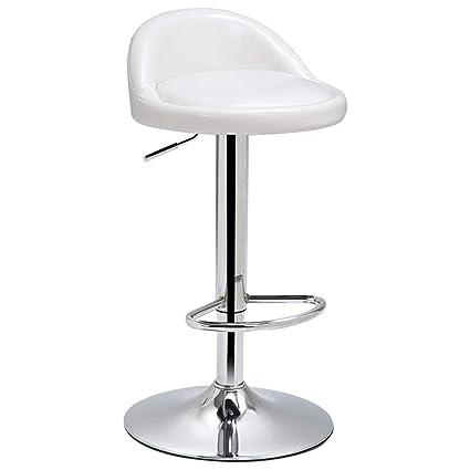 Astounding Amazon Com Leather Adjustable Swivel Bar Stool With Back Creativecarmelina Interior Chair Design Creativecarmelinacom