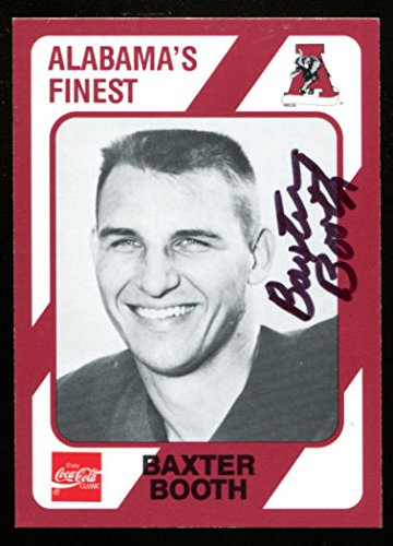 Baxter Booth Signed 1989 Collegiate Collection Alabama Crimson Tide 623