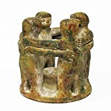 7'' Circle of Friends Pottery Candle Holder - 4 People (Green)