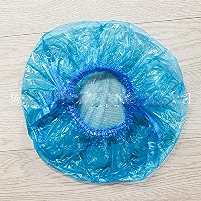 Egurs Disposable Shower Caps,200pcs Colored Clear Plastic Elastic Bath Caps,White+Blue+red+Yellow: Sports & Outdoors