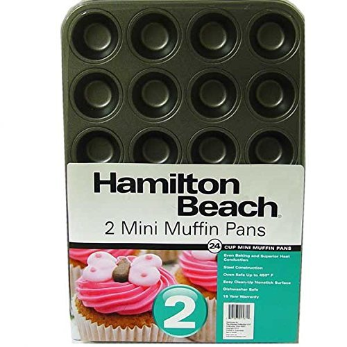 Hamilton Beach Set of 2 Nonstick Mini Muffin Pans-04481 ()