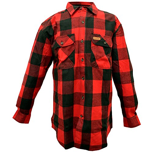 Flannel Check Big (Five Brother Men's Heavyweight Regular Fit Flannel Shirt, Tall 3XL Buffalo Check, 5200T PL-4A)