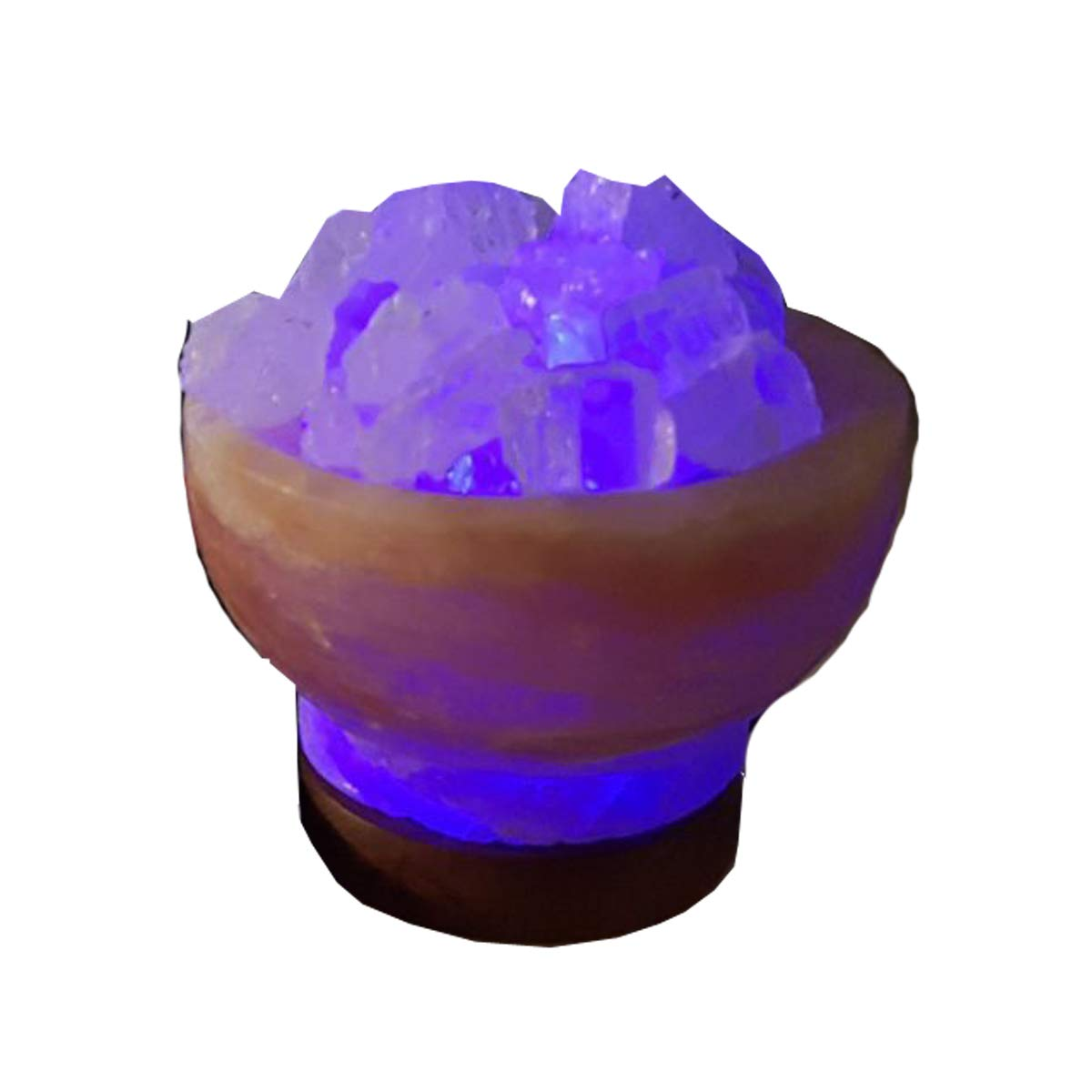 Himalayan Salt - Himalayan Pink salt USB Fire bowl color changing - different color salt crystals filled in salt bowl - Directly comes from Himalayan Mountains - AMAZING Health benefits