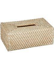 KOUBOO Laguna Rectangular Rattan Tissue Box Cover, White Wash - 1030061