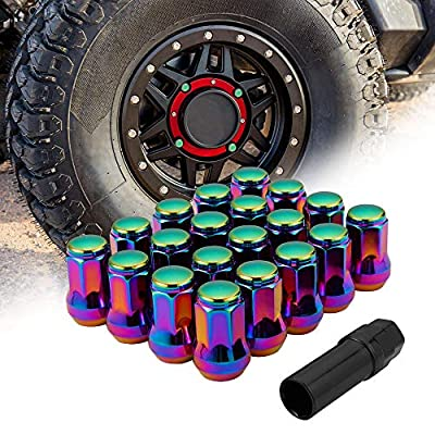 12mm x 1.5 Lug Nuts with Hex Socket Key Tool, Conical/Cone Bulge Seat Closed End Locking Nuts Neo Chrome Set of 20: Industrial & Scientific