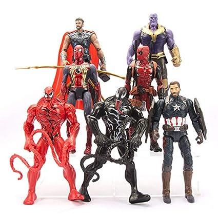 Amazon.com: VIETFR 7Pcs/Set Avengers Iron Man Captain ...