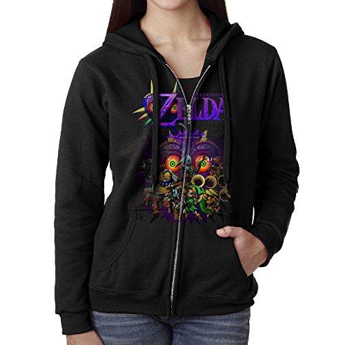 [JHKM Women's The Legend Of Zelda Majora's Mask Full Zip Sweatshirt Jackets Black Size XL] (Crazy One Direction Fan Costume)
