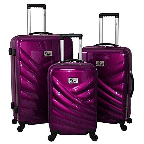 Travel Chariot Bag (Unitravel Hardside Luggage Sets Suitcase Set Rolling Trunk Lightweight Spinner)