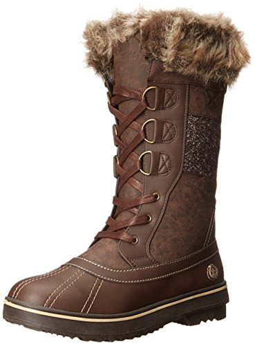 Northside Women's Bishop Snow Boot, Brown/Tan, 6 M US