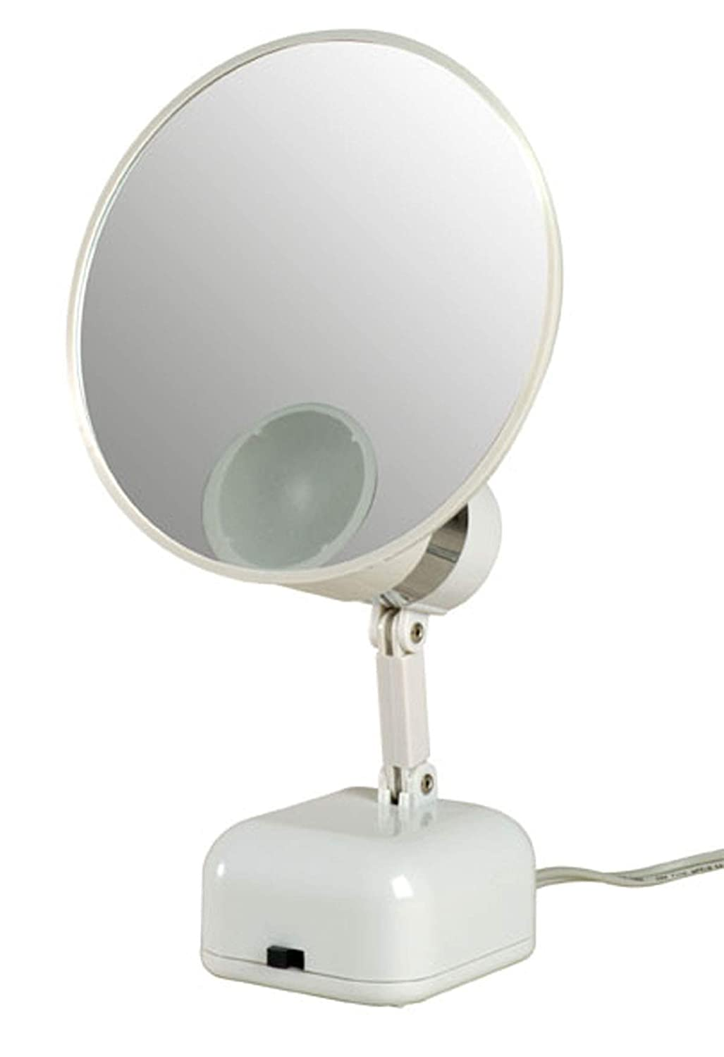 Floxite New 10x Supervision Magnifying Led Lighted Vanity Mirror Detaches for Travel, Dove, 6 Pound