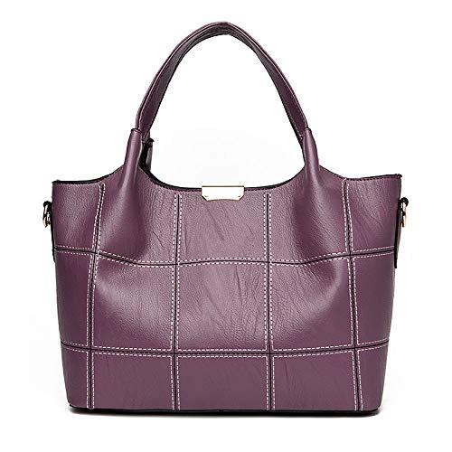 Womens Grigio Shoulder Backpack Zipper Purple Bags Bags poliuretano Tote Qztg Rosso Moradocross Handbags Pu 5vwf8W1q