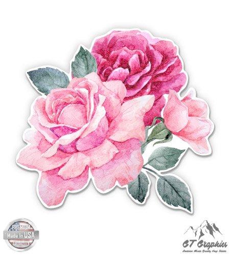 Flowers Helmet - GT Graphics Pink Roses - 3