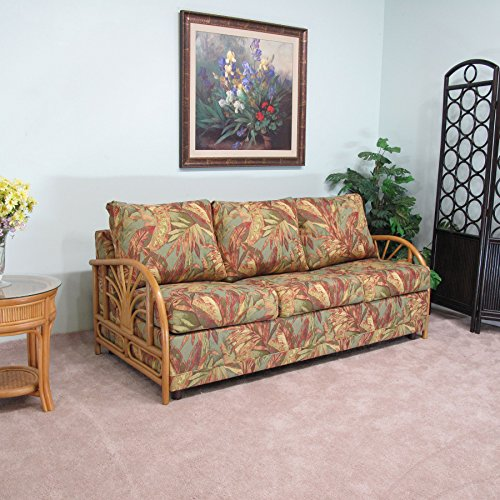 Made in USA Sundance Rattan Queen Sofa Sleeper Contract Quality