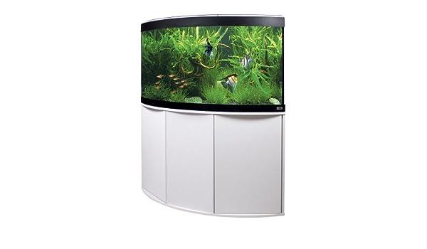 Fluval a11905 esquina Acuario Combinación (con visión panorámica Venezia, 350 L, color blanco: Amazon.es: Productos para mascotas