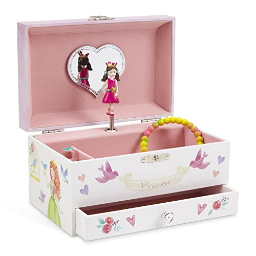 Box Heart Design (JewelKeeper Unicorn Musical Jewelry Box, Fairy Princess Hearts and Castle Design with Pullout Drawer, Dance of the Sugar Plum Fairy Tune)
