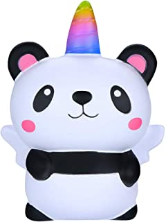 Prevently New Creative Squishies Cute Cartoon Panda Angel Scented Squishy Slow Rising Squeeze Strap Kids Toy Gift (A3) (A3)