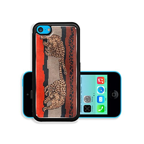 Apple iPhone 5C Aluminum Case Tiger print with african background fabric IMAGE 36558077 by MSD Customized Premium Deluxe Pu Leather generation Accessories HD Wifi Luxury Protector