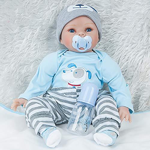 AFYH Simulation Doll Reborn Baby,Simulation Children's Doll - Rebirth Doll - Realistic Baby Companion - Colección de arte 55cm - Dé a su hijo un precioso Regalo. by AFYH (Image #4)