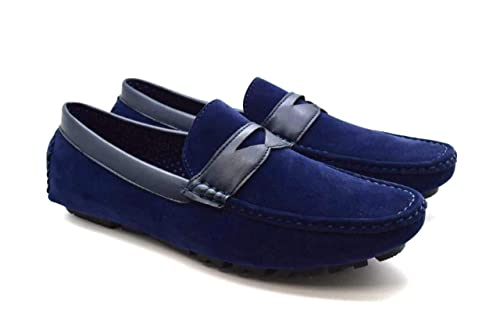 Trends4u - Botas Mocasines de Charol Hombre, Color, Talla 45 EU: Amazon.es: Zapatos y complementos