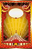 Leowefowa 3X5FT Vinyl Photography Backdrop Circus Tent Poster Perform Stage Theatre Bokeh Halos Glitter Golden Star Happy Birthday Background Baby Kids Children Photo Studio Props