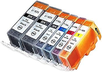 6-Pack Canon CLI-221 Inkjet Cartridges Combo