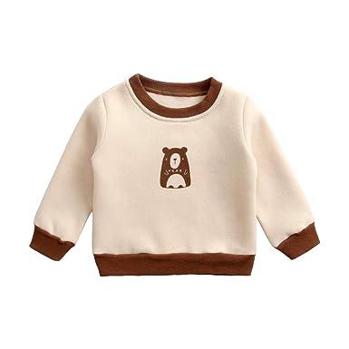 51ca41f4603de Sanlutoz Cotton Unisex Kids Sweatshirt Winter Autumn Baby Tops Toddler Long  Sleeve Clothes  Amazon.co.uk  Clothing