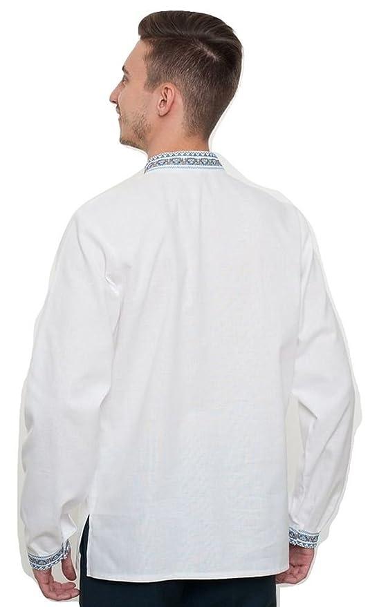 d538ec6b47316 Vyshyvanka Modern Men s Ukrainian Ethnic Cotton Shirt Real Embroidery. at Amazon  Men s Clothing store
