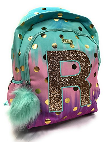 Justice School Backpack Dot Ombre Foil Letter Initia (R) bb77138d99