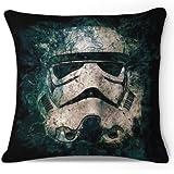 Damuyas Star Wars Storm Trooper Linen Throw Pillow Case Cushion Cover Sofa Decorative (star wars)
