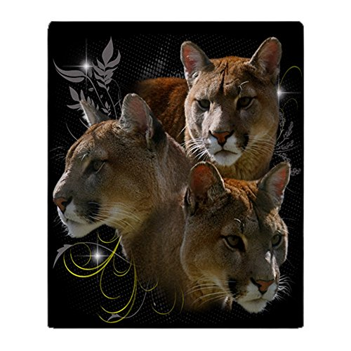 - CafePress Cougar Soft Fleece Throw Blanket, 50