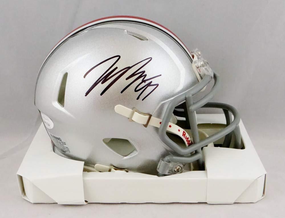 Nick Bosa Autographed Ohio State Buckeyes Chrome Mini Helmet JSA Witnessed Auth