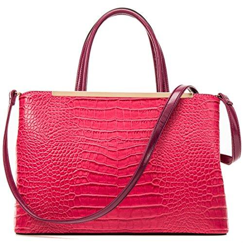 bb354a9f5e Dasein Frame Tote Top Handle Handbags Designer Satchel Leather ...