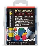 Chameleon Art Products Chameleon Color Tops, Primary Tones 5-Pen Set