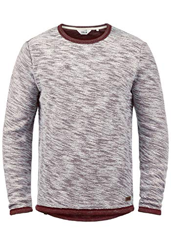 Sweat Pull Coton Avec solid Col 100 0985 Flocks Red Homme Capuche Hoodie Rond Wine vpwqEHq5