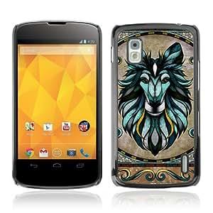 Designer Depo Hard Protection Case for LG Nexus 4 E960 / Majesti Animal Mosaic Art
