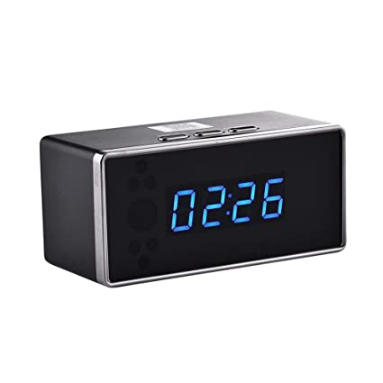 Yunn Spy Hidden Camera Alarm Clock, WiFi Hidden Camera Alarm ...
