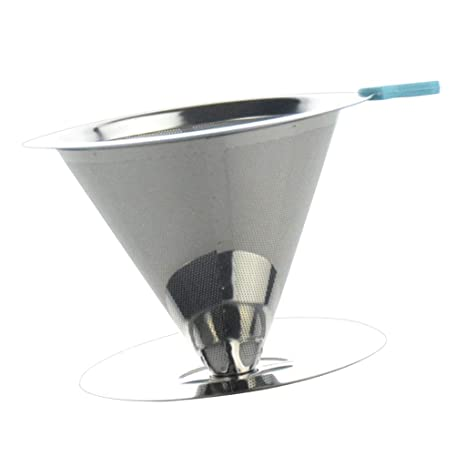 FLAMEER Filtro de Vertido de Café Acero Inoxidable para ...