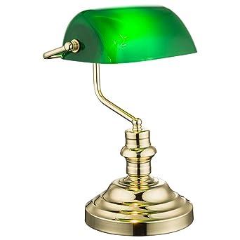 Nostalgie Antik Retro Tisch Lampe Banker Leuchte Schreibtischlampe