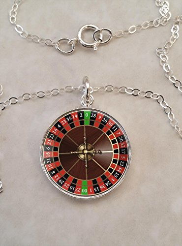 Roulette Wheel .925 Sterling Silver Necklace ()