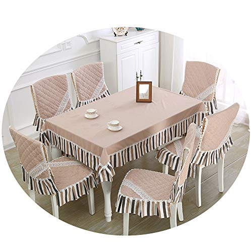 NDJqer 13Pcs/Set Rectangular Tablecloth Dining Chair Covers Dust Proof Home Wedding Table Chair Covers Baduk Jahangshi About 150X200Cm