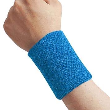 2 Wrist Band Sports Basketball Unisex Cotton Sweat Band Sweatband Wristband