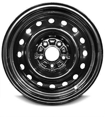 Road Ready Car Wheel For 2008-2010 Hyundai Tucson 2007-2010 Sebring Chrysler 16 Inch 5Lug Black Steel Rim Fits R16 Tire - Exact OEM Replacement - Full-Size Spare