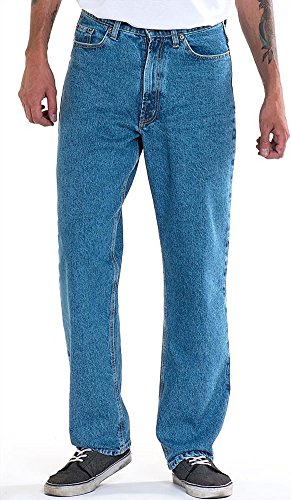 Full Blue Men's 5 Pocket Flannel Lined Jeans, Light Stonewash, 34W x 32L