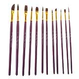 Bettal 12 pcs Stencil Brushes with Palette Set, DIY Art Crafts Paint Brush